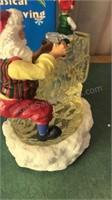 Battery Powered Musical Santa Figure In Original