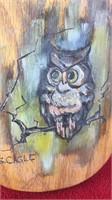 Vintage Italian Alabaster Owl Figure and 2 Owl