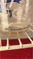1977 McDonalds Collectors Glass and 2 Holly
