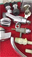 Collection of Vintage Auto Parts Knobs Handles