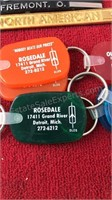 Collection of Auto Dealer Give Aways Keychains