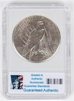 Coin 1927 Peace Silver Dollar in PCG MS65