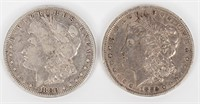 Coin 2 Morgan Silver Dollars 1880-O & 1885-O