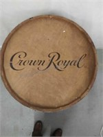 Crown Royal wooden crafted whiskey barrel with