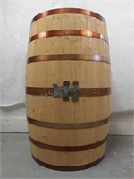 Basil Hayden wooden barrel display stand 3 ft by