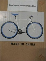 Pure Belvedere decorative bike with white gloss