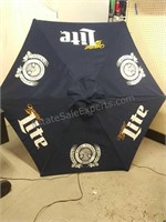 Miller Lite decorative lawn umbrella