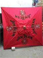 Decorative Jim Beam lawn umbrella