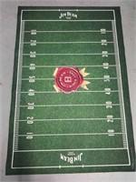 Decorative Jim Beam football field floor mat