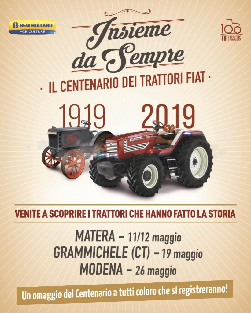 fiat centenario trattori new holland tour italia