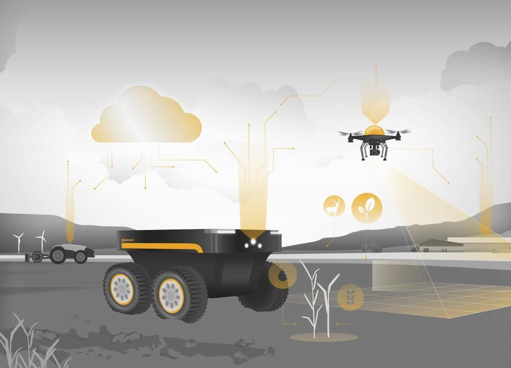 droni e robot per agricoltura di precisione Continental Agritechnica