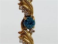 13ct+ Natural Gems & 1ct+ Diamond 14K Bracelet