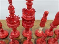 European 19th C. Gaming Table & Ivory Chess Set