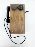 Antique Hand Crank Western Electric Wall Phone