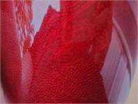 Rare Japanese Blood Red Ginbari Cloisonne Vase