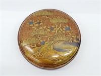 Rare Japanese Gold & Silver Lacquer Maki-e Kogo