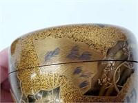 Rare Japanese Gold & Silver Lacquer Maki-e Natsume