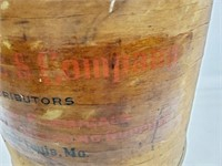 Antique G.S. Robins Chemical Co Wood Container