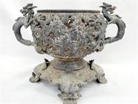 Antique Art Nouveau Dragon Parlor Oil Lamp Base