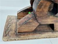 Antique Oriental Carved Wood Shrine Altar Stand