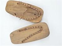 Antique Japanese Geisha Wooden Geta Sandals