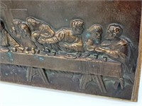 Antique Last Supper Imperial Brass MFG Co Plaque