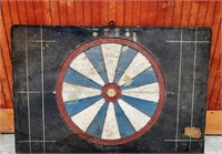 Large Early 1900s Antique Parlor Dartboard