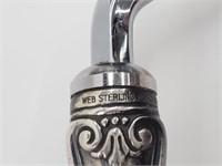Antique Web Sterling Cake Breaker Serving Comb