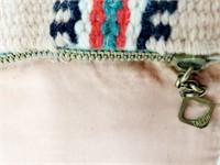 Rare 1930s Chimayo Indian Thunderbird Wool Purse