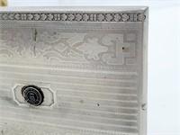 Rare Wenworth Military Acad Silver Cigarette Case