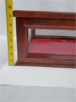 Beautiful Cherry Wood & Glass Display Showcase