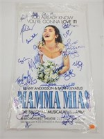Cast Signed Momma Mia Musical Promotional Poster