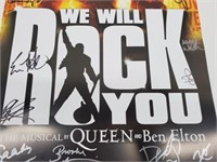 Cast Signed Queen & Ben Elton Musical Poster