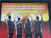 Cast Signed Jersey Boys Musical Promo Poster