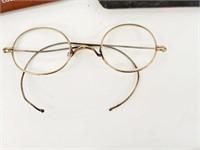 [3] Antique Gold Filled Eye Glasses (Rare Child's)