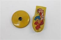 MINT Antique Tin Litho Clown Noise Maker