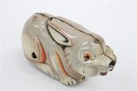 Vintage Wind-Up Friction Tin Litho Rabbit Tin Toy
