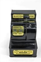 Vintage Uncle Sam 3-Coin Register Toy Coin Bank