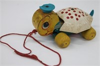 Fisher Price Wood Tiny Tim Turtle Pull Toy