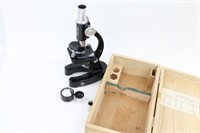 Vintage Child's Monolux 100x-750x Microscope