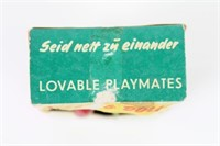 Vintage 1959 German Magnetic Kissing Dolls NIB