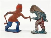 [2] Antique WM Britian Lead Cowboy & Indian