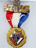 Antique K of C Laclede 1196 Ribbon & Medal