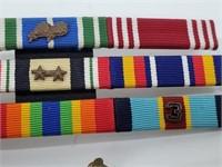 U.S. Military Insignia Bars, Sterling, WW2-Now