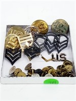 Vintage US Military Collar Badges Insignia Lot