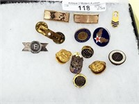 Vtg Variety Military Insignia & Pins w/ Sterling