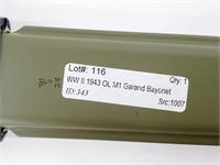WWII 1943 OL M1 Garand Bayonet Reproduction