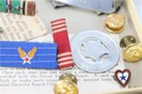 Box Of Rare WW2 ID Bracelets, Clips & Relics