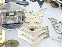 Vintage Lot of Collectible Military Pins/Badges