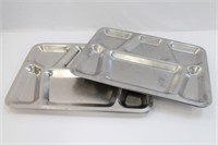 [4] WW2-Vintage Stainless US Military Meal Trays